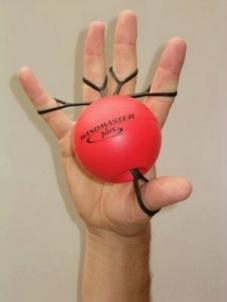 Rankos treniruoklis 'Handmaster Plus' (raudonas) Izmantot rīkus