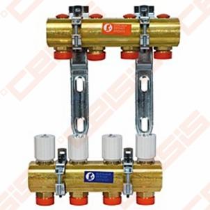 Reguliuojamas kolektorius Giacomini 10 žiedų | su balansiniais ventiliais Reguliuojami kolektoriai