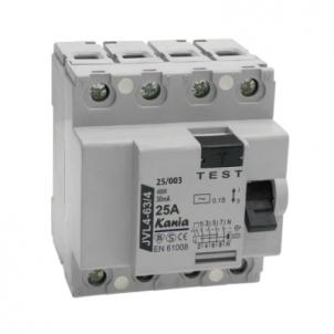 Rėlė srovės nuot.JVL4-63/4 25A/003 Dc leakage relay