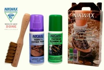 Rinkinys avalynės priežiūrai NI-58 Nikwax odai / audiniui 2x125 Kariškos avalynės aksesuarai