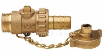 Rutulinis ventilis su pajungimu žarnai, dangteliu, d 1/2'' Prijungimo ventiliai