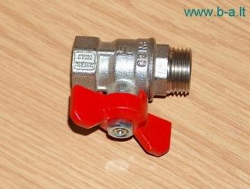 Rutulinis ventilis vidus/išorė trumpa rankena 3/4' Kitos santechnikos prekės