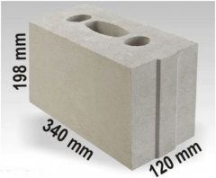 Silicate block ARKO M12 340x120x198 Sand-lime blocks