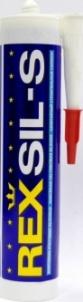 Silikonas sanitarinis REXSIL-S 280 ml baltas Pagalbinės santechnikos medžiagos