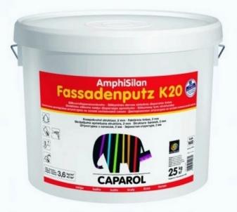 Silicone resin-bound textured renders AmphiSilan Fassadenputze K20, 25 kg