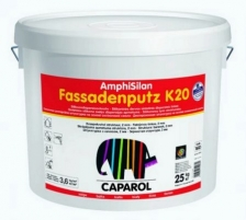 Silicone resin-bound textured renders AmphiSilan Fassadenputze K20 (colorless base) 25 kg