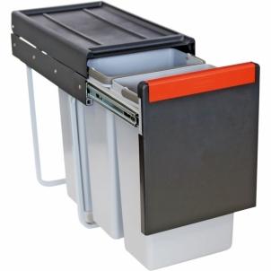Šiukšliadėžė FRANKE Cube 30, atidarymas ranka, 3x10l. Kitchen trash cans