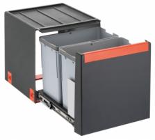 Šiukšliadėžė FRANKE Cube 40, automatinis atidarymas, 2x14l. Kitchen trash cans