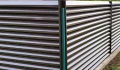 Cans fence segment 10x1500x2000 double-sided polyester Horizontal zaliuzi profile