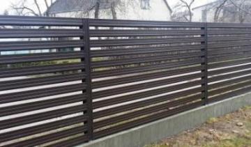 Skardinės tvoros segmentas 10x1500x2000 Horizontālā zaliuzi profils