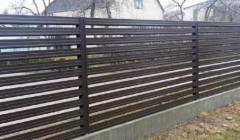 Skardinės tvoros segmentas 10x1500x2600 dvipusis poliesteris Horizontālā zaliuzi profils