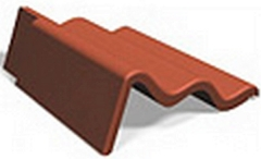 Cloak verge left 110 mm double-S Concrete roof tiles