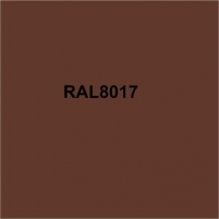 Colored tin (Polyester) RAL8017 brown The color of the gesture (equal to)