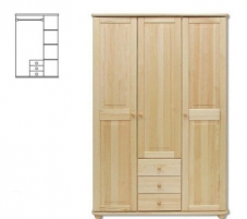 Spinta SF101 (125x190x60 cm) Wooden bedroom closets