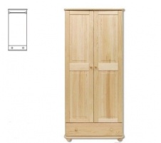 Spinta SF102 (85x190x60 cm) Wooden bedroom closets