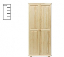 Spinta SF104 (82x190x60 cm) Wooden bedroom closets