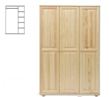 Spinta SF105 (120x190x60 cm) Wooden bedroom closets