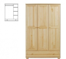 Spinta SF106 (120x190x60 cm) Wooden bedroom closets