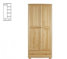 Spinta SF107 (82x190x60 cm) Wooden bedroom closets