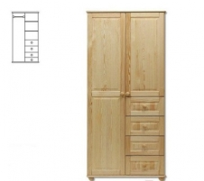 Spinta SF109 (93x195x56 cm) Wooden bedroom closets