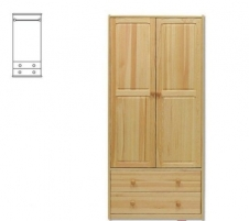 Spinta SF111 (85x180x45 cm) Wooden bedroom closets