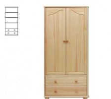 Spinta SF114 (90x190x40 cm) Wooden bedroom closets