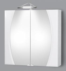 Spintelė su veidrodžiu Riva80 SV80-1 Vonios spintelės