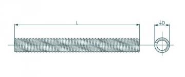 Srieginis strypas DIN975 M6x1000 4,8 kl., cink. Strypai srieginiai Din 975, cinkuoti