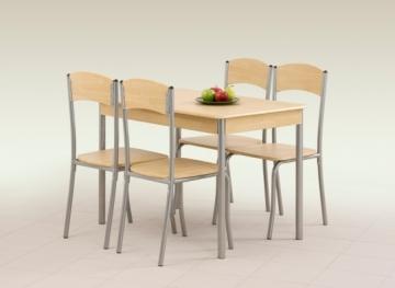 Stalas su kėdėm LONGIN (šviesus ąžuolas) Virtuvės stalai