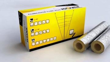Stiklo vatos kevalas su lipnia užlaida ISOVER KK-AL d 60-40mm Akmens vatos izoliaciniai kevalai