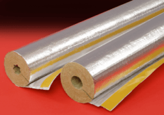 Stiklo vatos kevalas su lipnia užlaida PAROC d 60-30 mm Akmens vates izolācijas čaulas