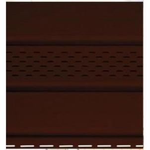 Stogo atbrailos apkala, plast., perforuota, šokolado spalvos Apšuvums (vinila fiberboard, koksne)