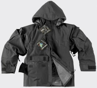 Striukė ECWCS II tipo Helikon juoda Gore-Tex Kariškos jakas, žaketes