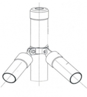 Pole support rounded (hot dipped galvanized) 38x2000