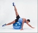Terapinis kamuolys Gymnic 65cm, mėlynas Mankštos kamuoliai