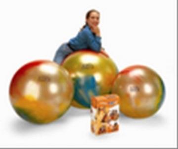Terapinis kamuolys Gymnic 75cm, margas