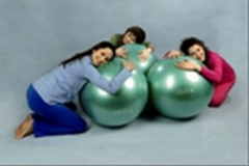 Terapinis kamuolys Gymnic 75cm, žalias