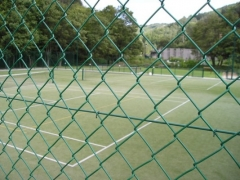 Mesh for tennis/sport court EXTRUDEX 40x40mm 1.5x15m green Fences nets weave Plasticised