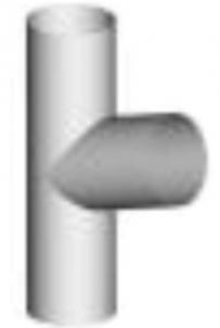 Trišakis 150/150 apvalus (cinkuotas) Lietvamzdžių trišakiai