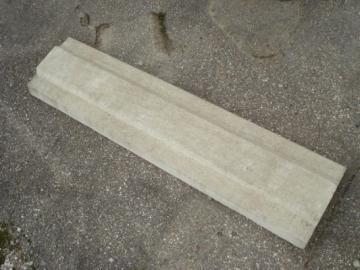 Coping 250x1000 mm. Concrete fences