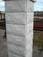 Fence pillar block 320x320 mm.