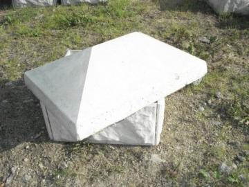 Tvoros stulpo stogelis 420x650 mm Betoninės tvoros