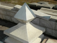 Pier caps 480x480 mm.(with prism) Concrete fences