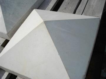 Pier caps 580x580 mm. Concrete fences