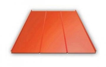 Valcuoto profilio skarda Classic 0,45 mm (poliesteris) Profils trapecinio skārda loksnes