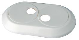 Vamzdžio rozetė dviguba balta, d 20 Instalplast montavimo įrankiai