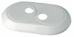 Vamzdžio rozetė dviguba balta, d 28 Instalplast montāžas instrumenti
