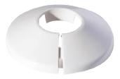Vamzdžio rozetė vienguba balta, d 22 Instalplast montāžas instrumenti