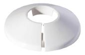 Vamzdžio rozetė vienguba balta, d 28 Instalplast-fitting tools