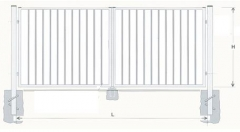Hot dipped galvanized Swing Gates 1200x4000 (filler-slugs) painted